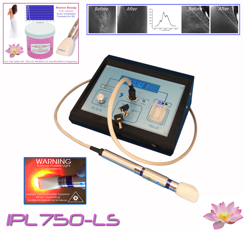 IPL750-LS Acne Treatment Filtering Gel Kit 400-505nm with Beauty Treatment Machine, System, Device.